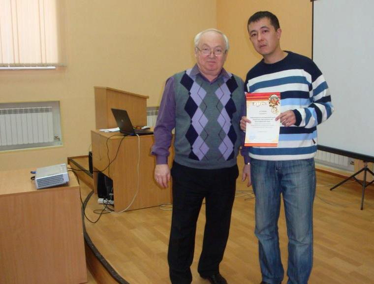 Хузин Р.И. c Долинером Л.И., представитель ИМЦ ОУ Красноуфимского района, диплом III степени